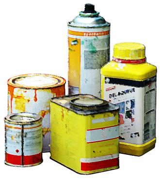 Peindre sans solvant energie - Recyclage pot de peinture ...